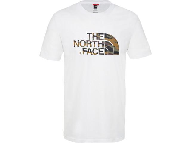 The North Face Easy Camiseta Manga Corta Hombre, tnf white/british khaki tiger camo print